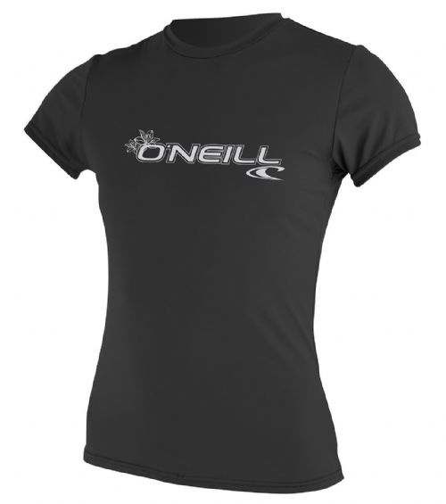 O'NEILL WOMENS RASH T SHIRT.SKINS UPF50+ SUN PROTECTION BLACK VEST TOP 8S 547 2